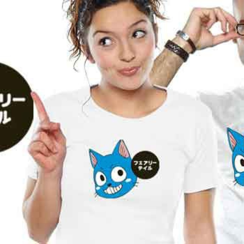 T-shirt Fairy Tail Happy Patch - Coupe femme  - T-Shirts