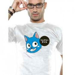 T-shirt Fairy Tail Happy Patch - Coupe homme