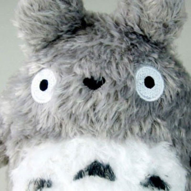 Peluche Fluffy Big Totoro gris - Taille S  - ARTICLES TOTORO STOCK EPUISE