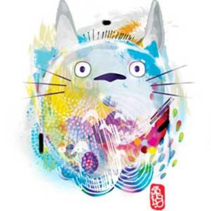 Totoro - T-shirt Nekotoro paint  -  TOTORO - GHIBLI