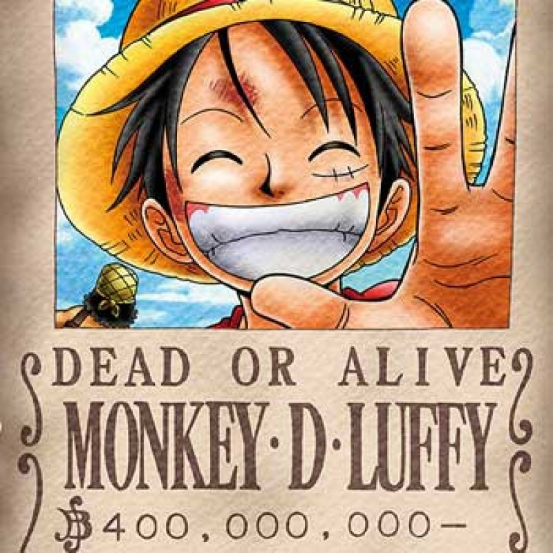 Affiche One Piece Wanted de Luffy - Nouvelle prime  - Posters & Affiches