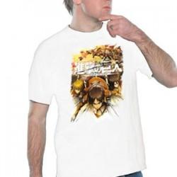 L'attaque des Titans - T-Shirt Crew Fight Blanc  - L'ATTAQUE DES TITANS