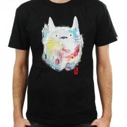 Totoro - T-shirt Nekotoro paint Noir  -  TOTORO - GHIBLI
