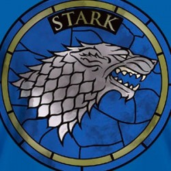 Game of Thrones - T-Shirt maison Stark - Bleu  - CINÉMA & SÉRIES TV