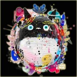 Totoro - T-shirt Toneko paint Noir  -  TOTORO - GHIBLI
