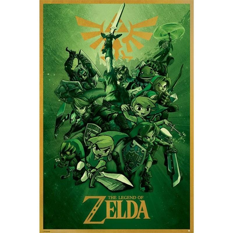 The Legend of Zelda - Poster Link  - ZELDA