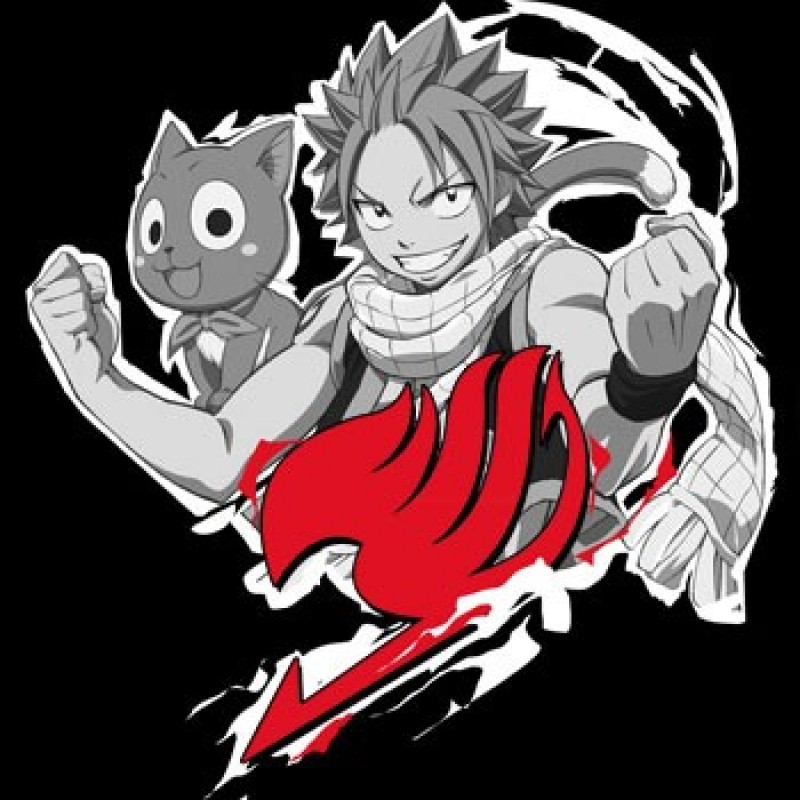 Fairy Tail - T-shirt Natsu Cloud  - T-Shirts