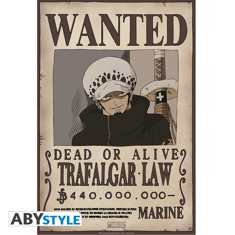 One Piece - Affiche Wanted de Trafalgar Law  - Posters & Affiches