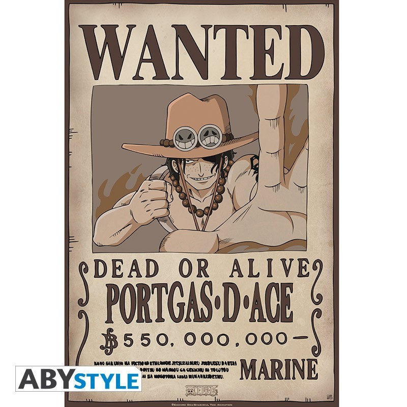 Affiche wanted ace - Affiche wanted one piece ...