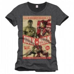 Avengers - T-shirt Hulk Vs Hulkbuster  -  LES BONNES AFFAIRES