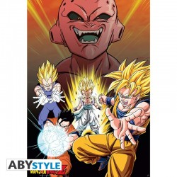 Dragon Ball Z - Affiche Majin Buu vs Super Saiyans  - Goodies DBZ