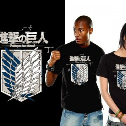 Attack on Titan - T-shirt Crew Logo Bataillon d'exploration  - L'ATTAQUE DES TITANS