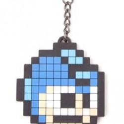 Megaman - porte-clés caoutchouc Pixel Head  - Goodies jeux-vidéo