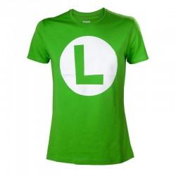 T-shirt Luigi Logo  -  MARIO BROS & CO