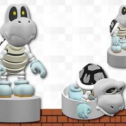 Figurine Koopa squelette.  - Mario Hors Stock