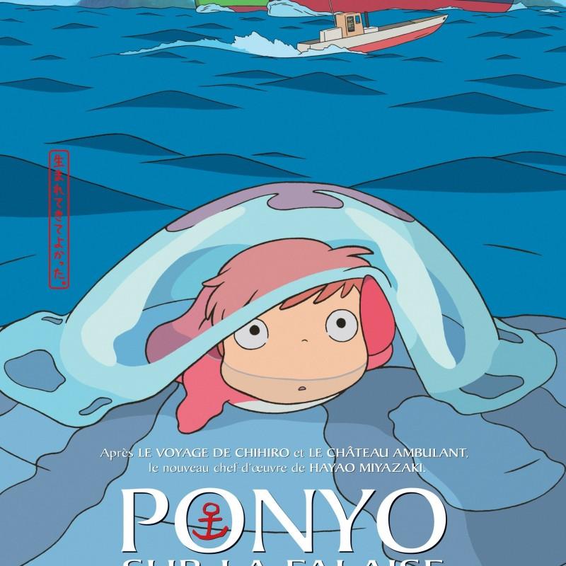 Affiche Cinéma Ponyo sur la Falaise  -  TOTORO - GHIBLI
