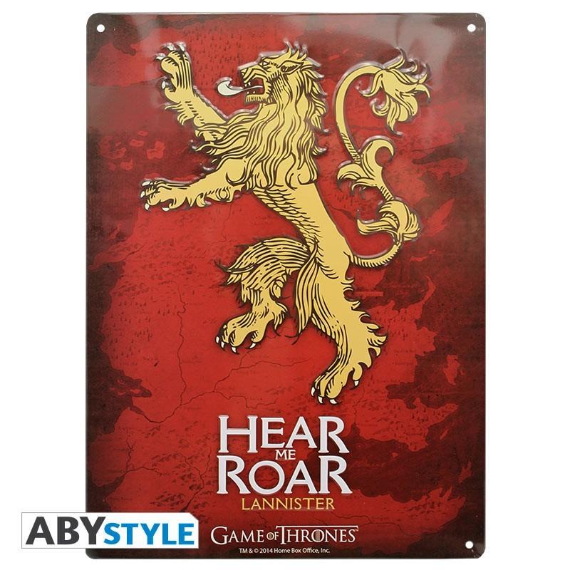 Plaque Métal Lannister  - CINÉMA & SÉRIES TV