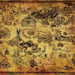 Zelda - posters Hyrule Map  - ZELDA