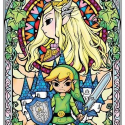 The Legend of Zelda - Poster Stained Glass  - ZELDA