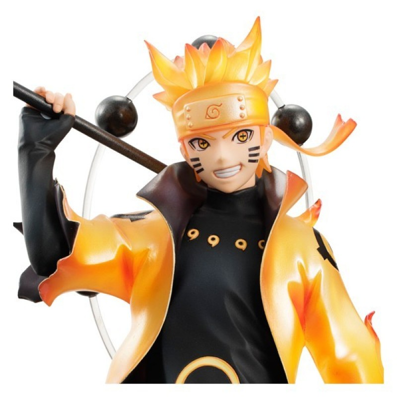 Figurine Naruto Shippuden de Uzumaki Naruto Rikudo Sennin Mode du fabricant  Megahouse. Statuette PVC haute qualité, taille env. 24 cm avec socle de  Naruto