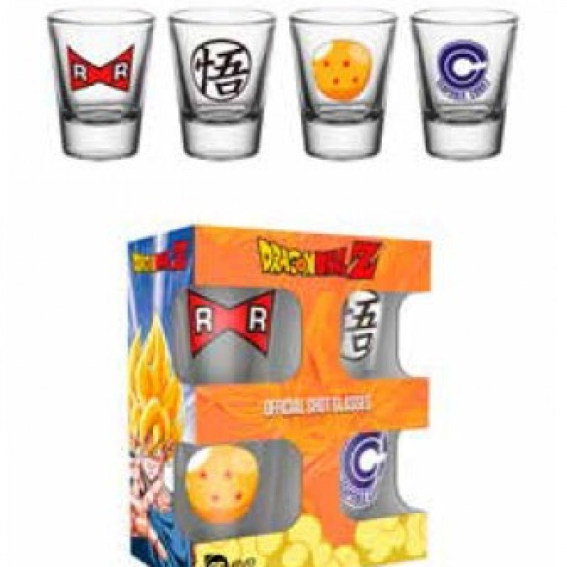 Set de 4 Verres à shooter Dragon Ball Z  -  DRAGON BALL Z
