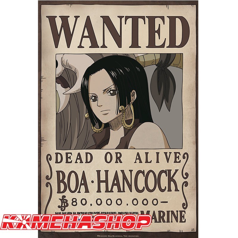 Poster Wanted Boa Hancock  - Posters & Affiches