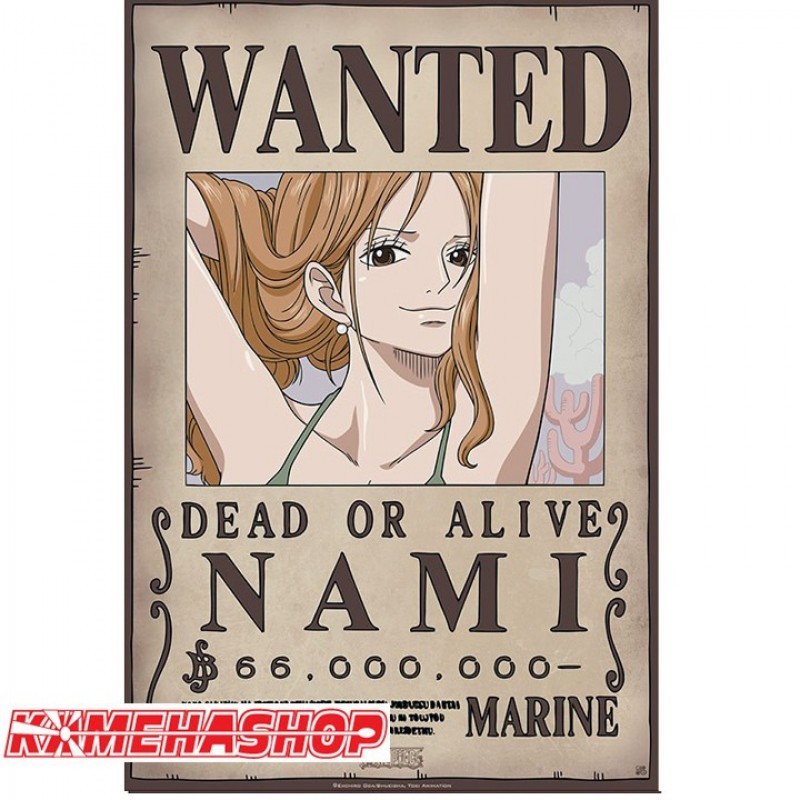 Poster wanted nami nouvelle prime - Affiche wanted one piece ...