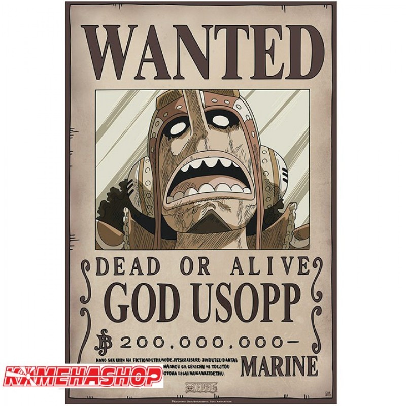 Affiche Wanted Ussop - New World Prime  -  ONE PIECE