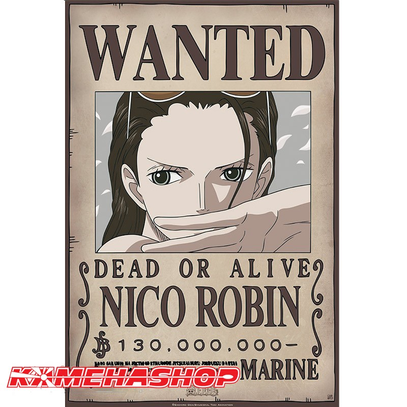 Affiche Wanted Robin - New World Prime  -  ONE PIECE