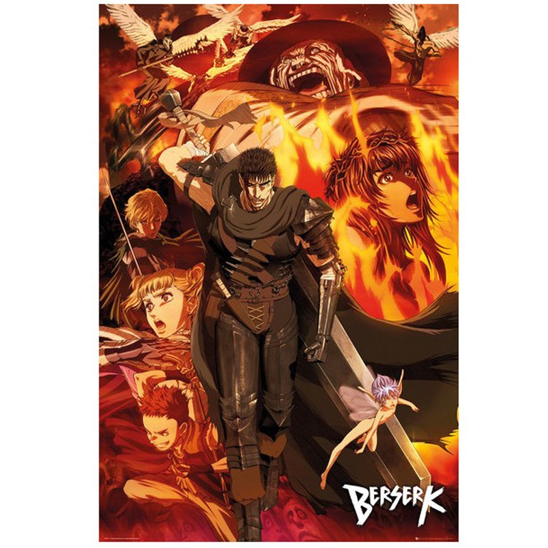 poster berserk collage. Black Bedroom Furniture Sets. Home Design Ideas