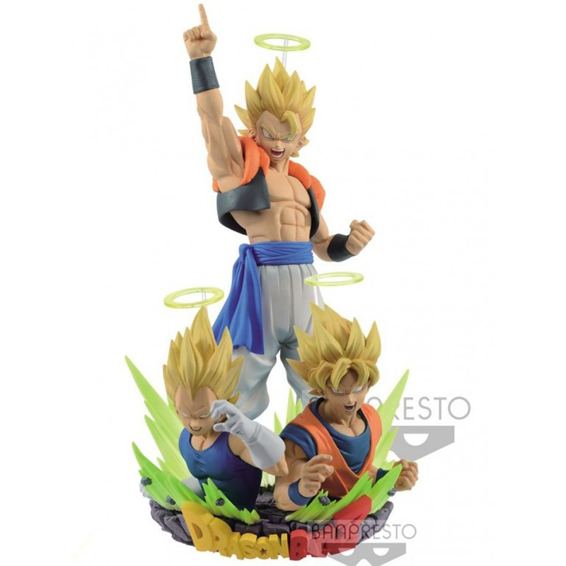set de figurines dragon ball z gogeta goku et vegeta banpresto. Black Bedroom Furniture Sets. Home Design Ideas