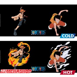 One Piece - Mug Thermo-Réactif Luffy Ace  -  ONE PIECE
