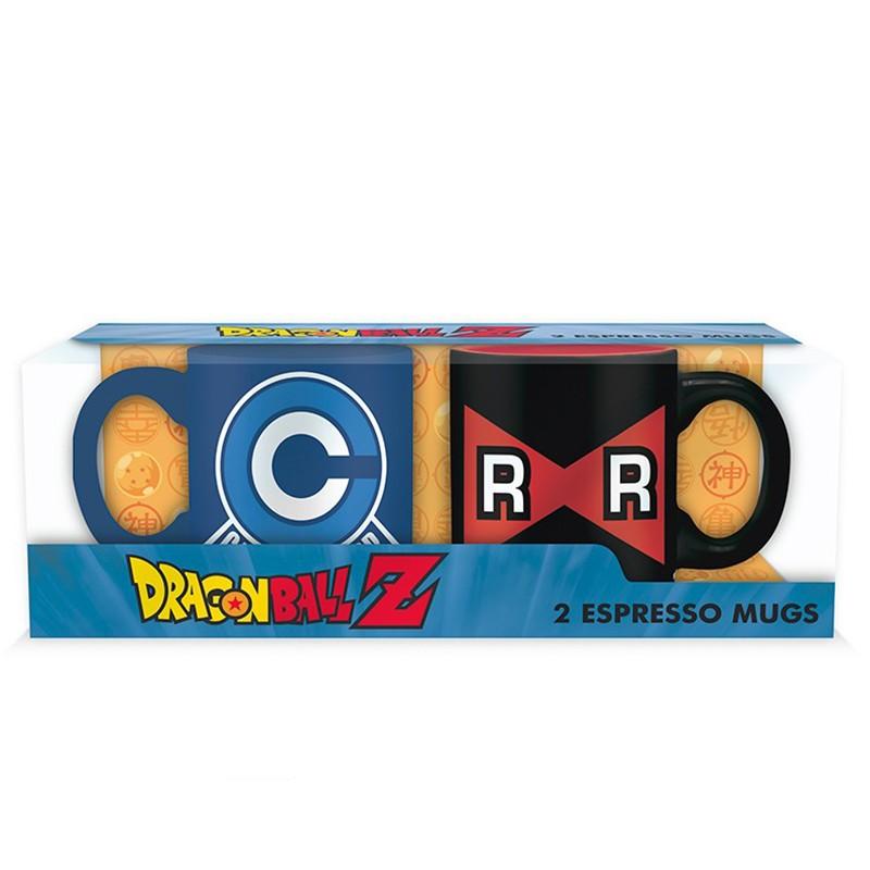 Set 2 mini Mugs Capsule Corp & Ruban Rouge  -  DRAGON BALL Z