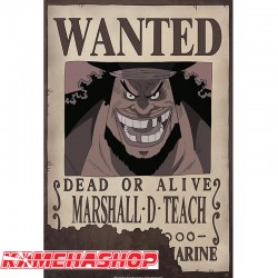 One Piece - Affiche Wanted Marshall D.Teach  -  ONE PIECE