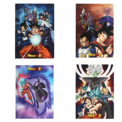 Lot de 4 Cahiers Dragon Ball Super  - FOURNITURES SCOLAIRES