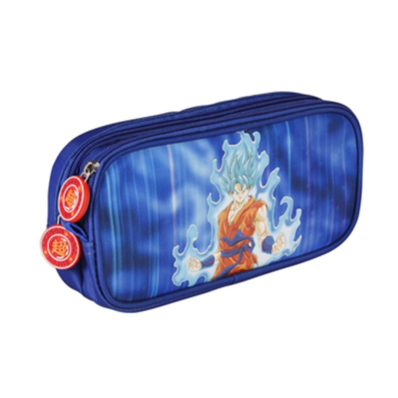 Dragon Ball Super - Trousse rect Goku Blue  - FOURNITURES SCOLAIRES