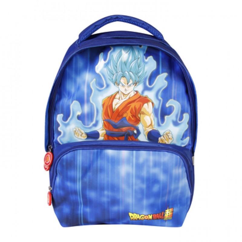 Dragon Ball Super - Sac à dos 2 cpts Goku Blue  - FOURNITURES SCOLAIRES
