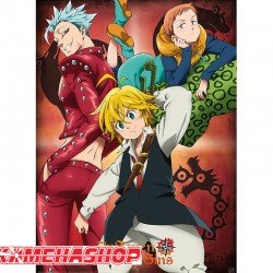 Poster Seven Deadly Sins - Meliodas Ban & King  - POSTERS & AFFICHES