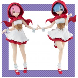 Re-Zero - Figurine Rem et Ram Red hood version  - AUTRES FIGURINES