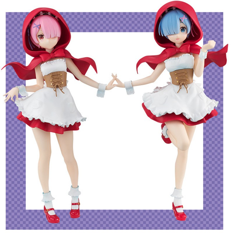 Re-Zero - Figurine Rem et Ram Red hood version  - AUTRES FIGURINES