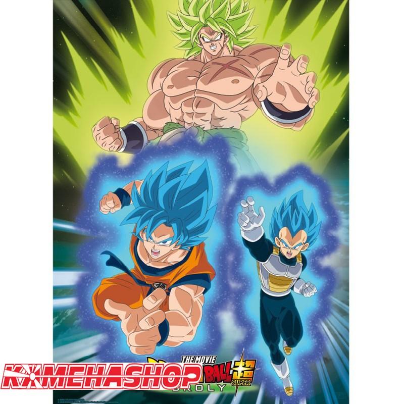 Poster Broly versus Vegeta & Goku  -  DRAGON BALL Z