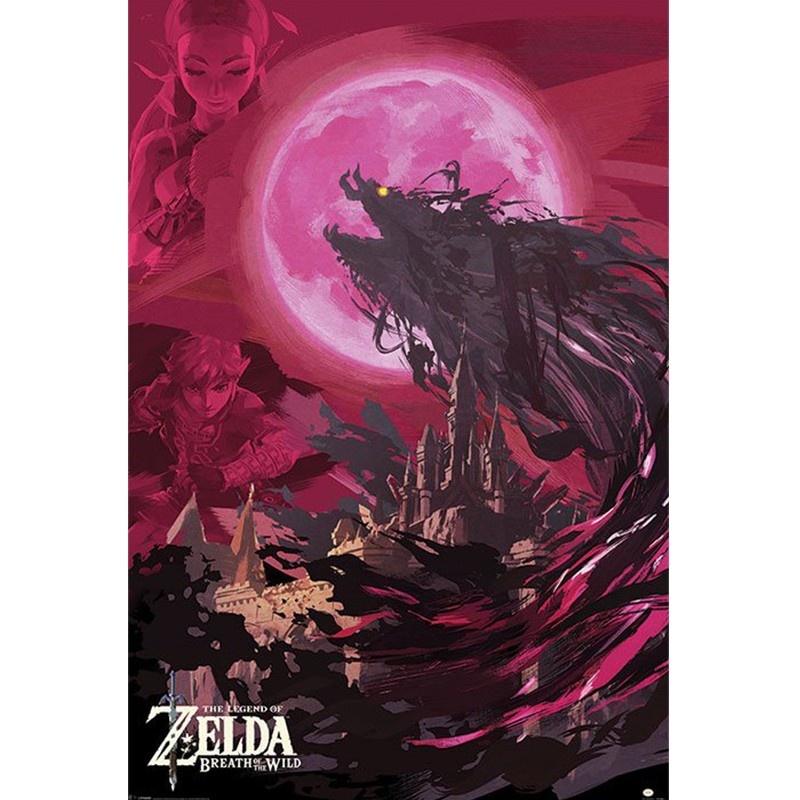 Zelda - Poster Ganon Blood Moon  - ZELDA