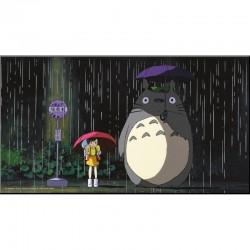 Totoro - Digigraphie sur Bois Bus Stop  -  TOTORO - GHIBLI