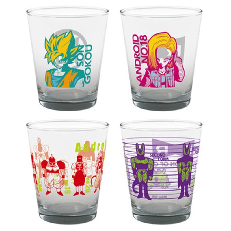Set de 4 verres Dragon Ball Android Battle  -  DRAGON BALL Z
