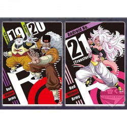 Set 2 Portes Document Android 19 & 20 & Android 21  -  DRAGON BALL Z