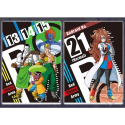 Set 2 Portes Document Android Ruban Rouge & Android 21  -  DRAGON BALL Z