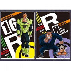 Set 2 Portes Document Goku & Android 16  -  DRAGON BALL Z