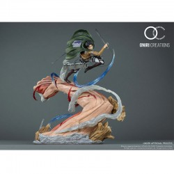 Statue Levi vs Female Titan - Oniri Creation  - L'ATTAQUE DES TITANS