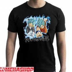 Dragon Ball Super - T-shirt Goku Blue & Vegeta Blue  -  DRAGON BALL Z
