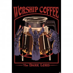 Poster Worship Coffee Steven Rhodes  - POSTERS & AFFICHES